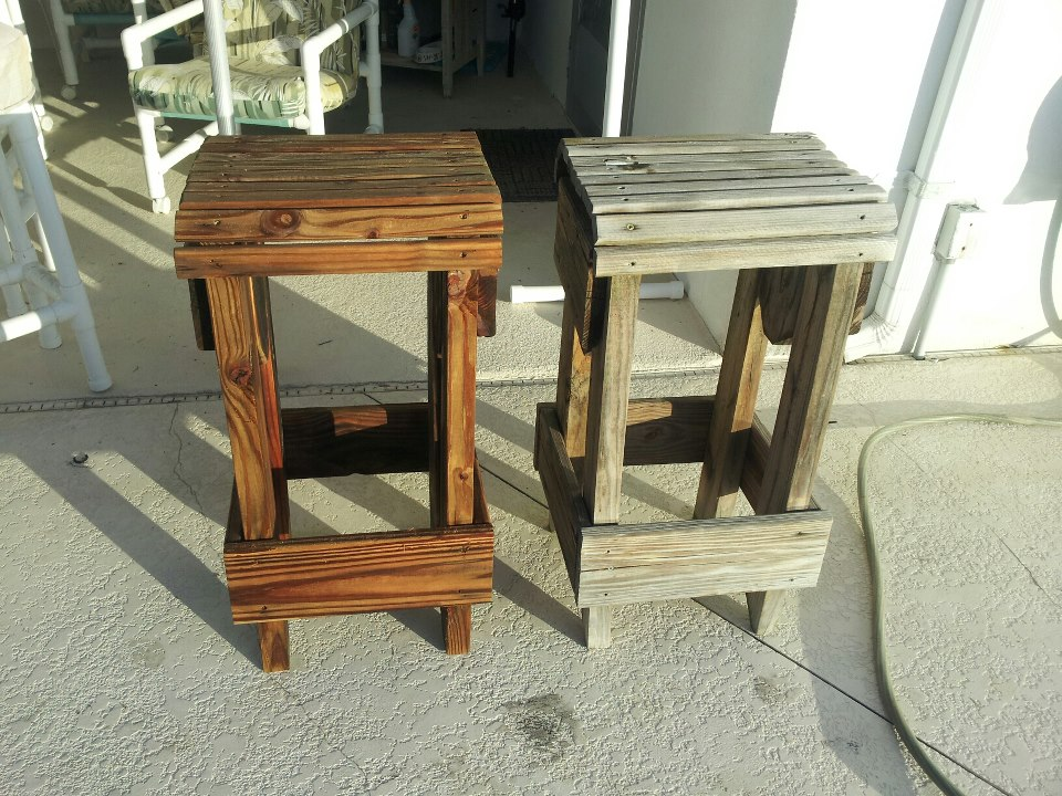 a custom made bar stool
