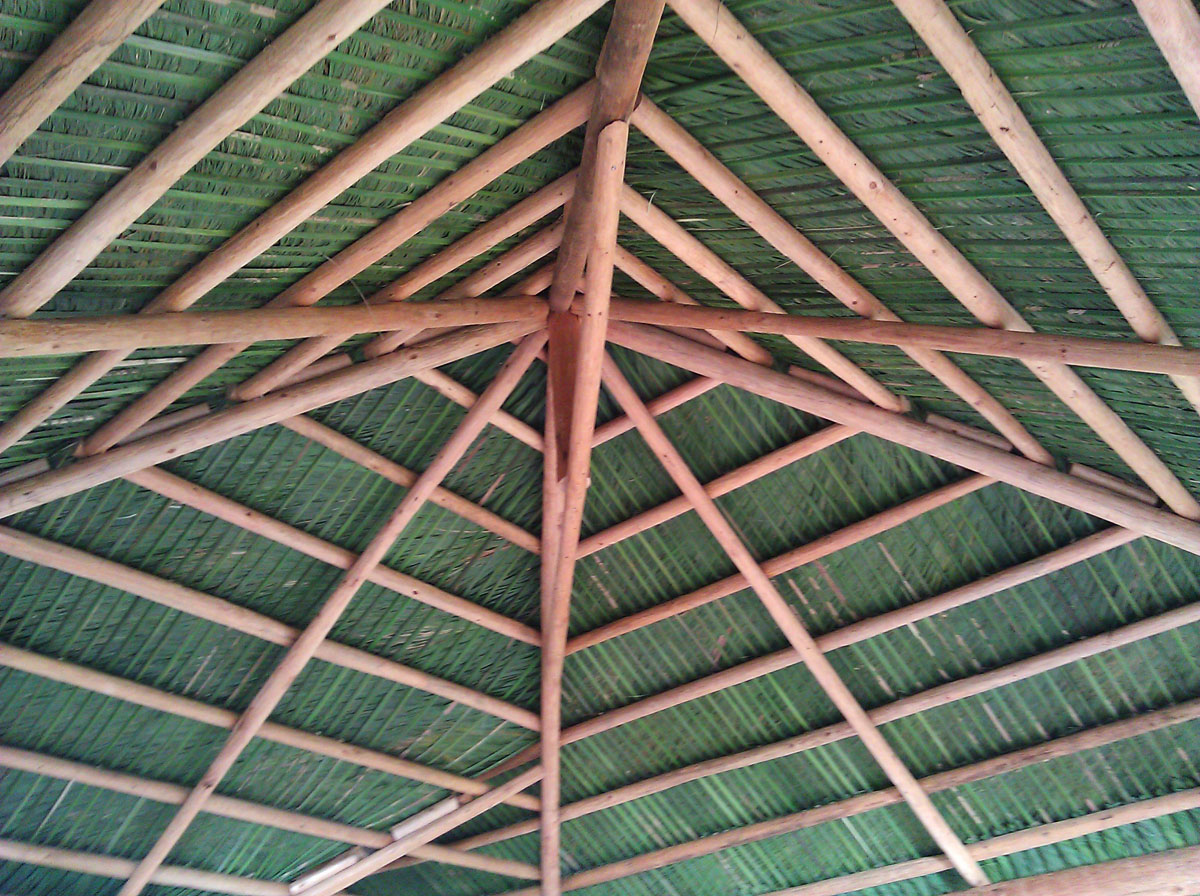 image of a Tiki Hut roof