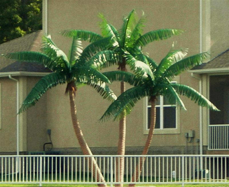 image of a fake palm tree