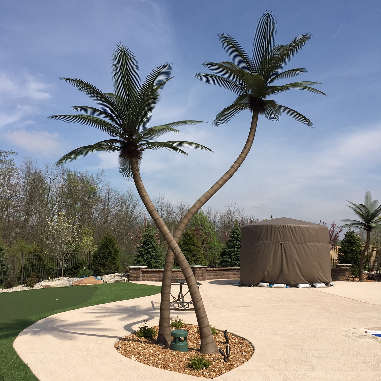 image of an artificial palm tree