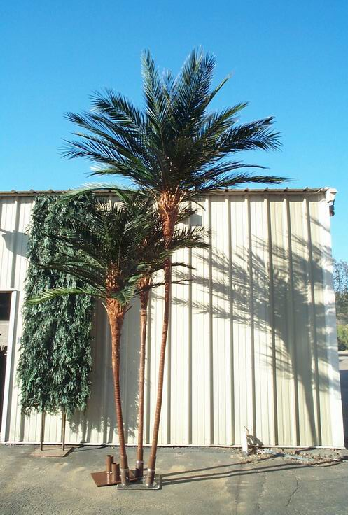 image of 2 fabricated Palm Trees