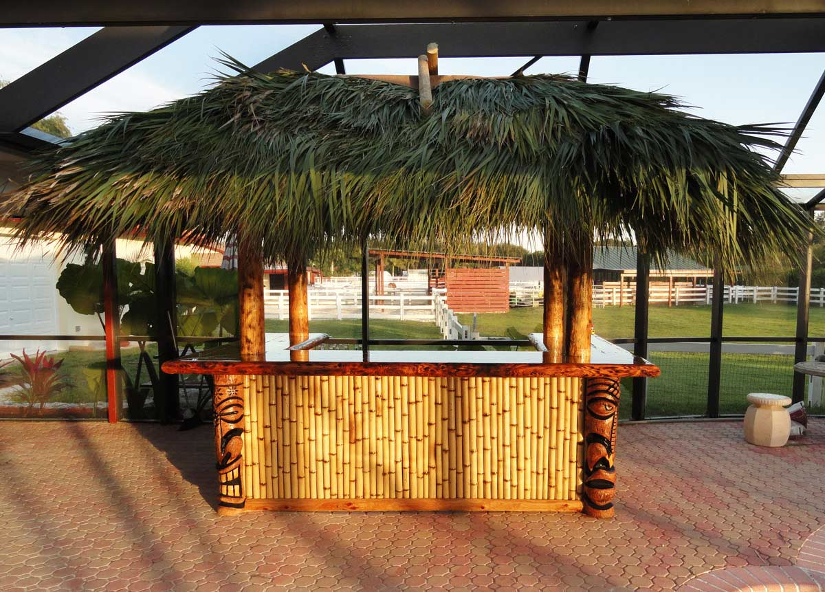 custom made palm trees residential tiki huts