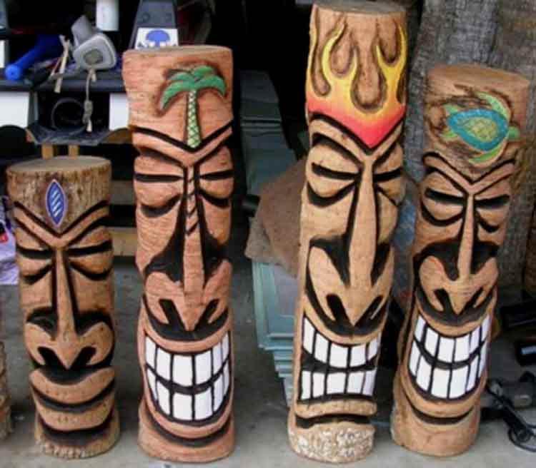 custom made palm trees tiki poles rh custompalmtrees com