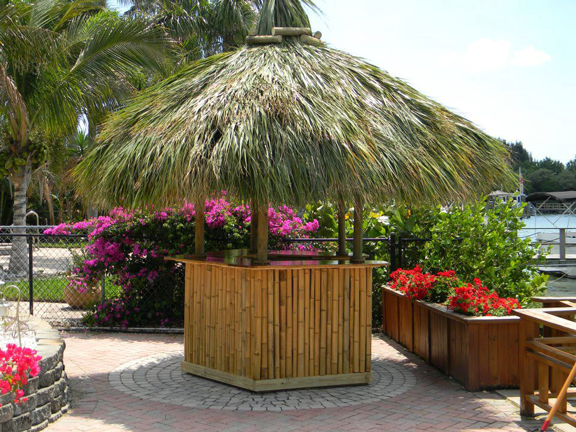 image of a tiki hut bar