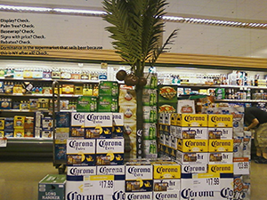 image of a tropical store display